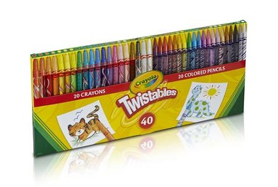 Twistable Combo Pack, 20 Crayons, 20 Pencils  -