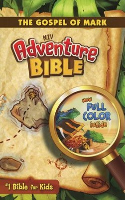 NIV Adventure Bible: The Gospel of Mark, Blue - Slightly Imperfect  -     By: Lawrence O. Richards