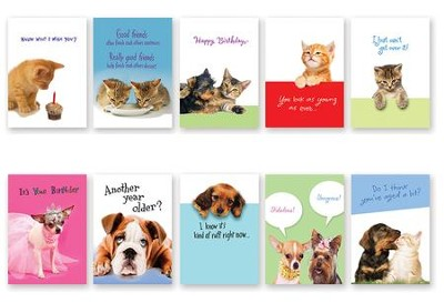 Dog & Cat Cards, Pack of 20  -