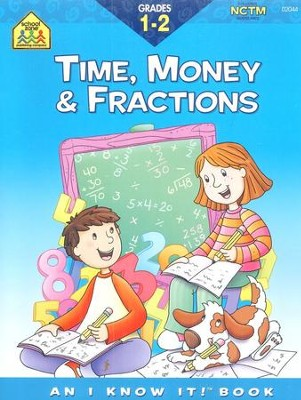 Time, Money & Fractions, Grades 1-2   -