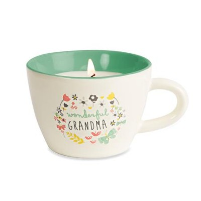 Wonderful Grandma Teacup Candle  -