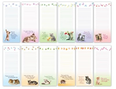 Kitty Seasonal Notepads, Set of 12  -