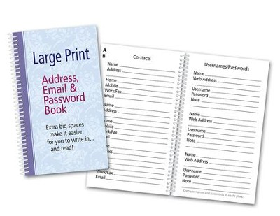 Large Print Password Book  -