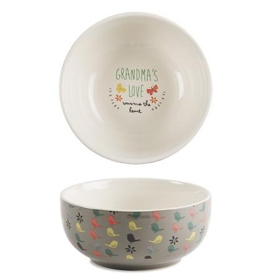 Grandma's Love Warms the Heart Bowl  -