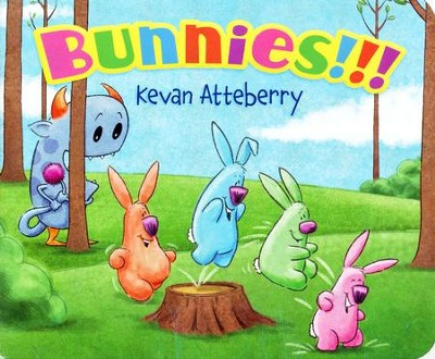 Bunnies!!! Board Book  -     By: Kevan Atteberry     Illustrated By: Kevan Atteberry