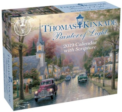 2019 Painter of Light Day-To-Day Calendar  -     By: Thomas Kinkade