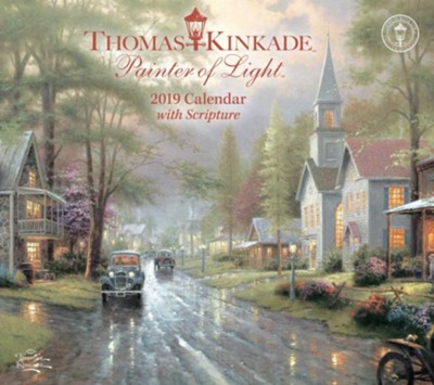 2019 Painter of Light Deluxe Wall Calendar  -     By: Thomas Kinkade