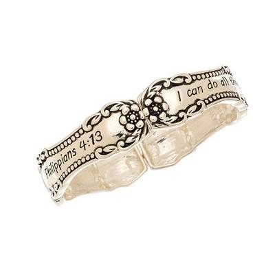 Philippians 4 13 Designer Stretch Bracelet