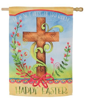 Easter Blessing Suede Flag, Large  -