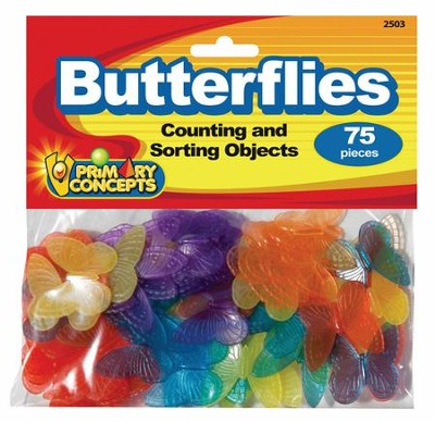 Counting Objects: Butterflies (75 Pieces)   -