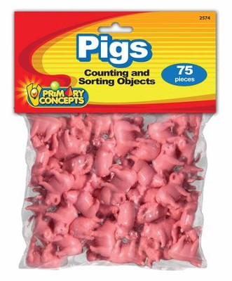 Counting Objects: Pigs (75 Pieces)   -