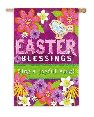 Easter Blessings Suede Flag, Large  -