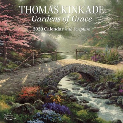 2020 Gardens of Grace Wall Calendar  -     By: Thomas Kinkade