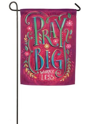 Pray Big Suede Flag, Small  -
