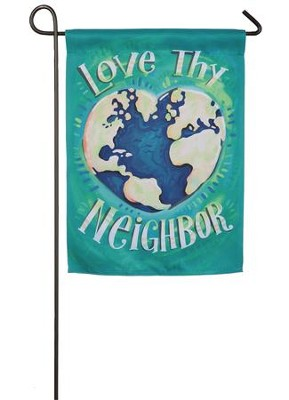 Love Thy Neighbor Suede Flag, Small  -