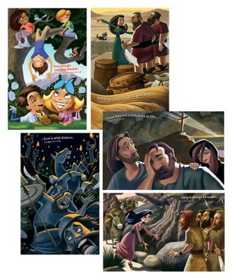 Maker Fun Factory VBS: Bible Story Posters, pack of 5   -