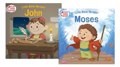 Moses/John Flip-Over Book  -     By: Victoria Kovacs