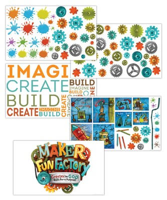 Maker Fun Factory VBS: Giant Decorating Posters, 5 pk   -
