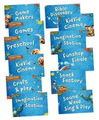 Maker Fun Factory VBS: Station Sign Posters, 12 pk   -