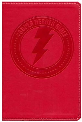NIrV Super Heroes Backpack Bible, Red  -