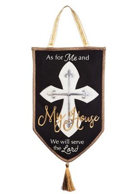 As for Me and My House Burlap Door Decor  -