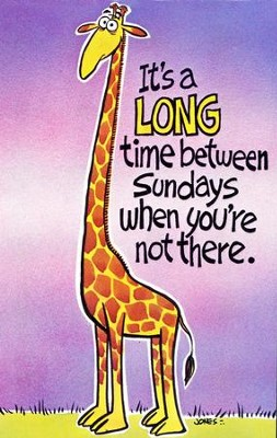 Postcard - It's A Long Time Between Sundays (pkg. of 25)  -