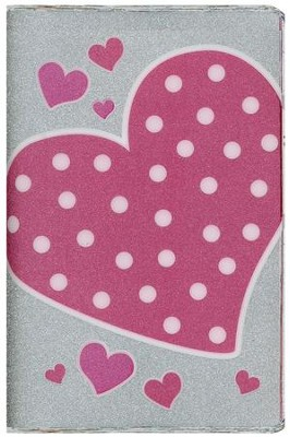 NIV Glitter Bible Collection--flexible cover, pink polka-dot heart  -