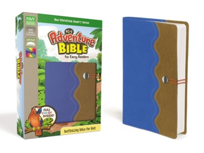 NirV Adventure Bible for Early Readers, Italian Duo-Tone, Elastic Closure, Blue/Tan - Slightly Imperfect  -     By: Lawrence O. Richards