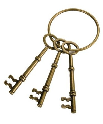 Roman Guard Skeleton Keys (3 keys, 1 ring)   -