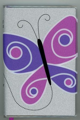 NIV Glitter Bible Collection Purple Butterfly, Flex cover  -