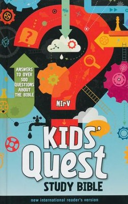 NIrV Kids' Quest Study Bible, hardcover  -