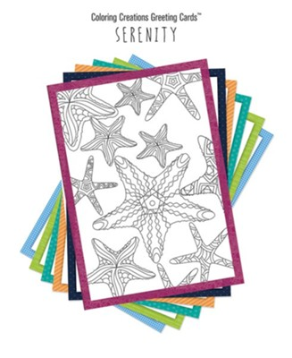Coloring Creations Greeting Cards - Serenity  -