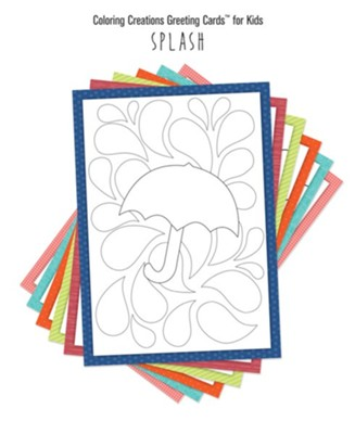 Coloring Creations Greeting Cards - Splash  -
