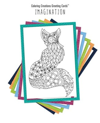 Coloring Creations Greeting Cards - Imagination  -