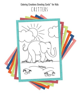 Coloring Creations Greeting Cards - Critters  -