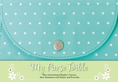 NIrV My Purse Bible--soft leather-look, turquoise  -