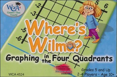 Where's Wilma? Graphing in the Four Quadrants Game   -