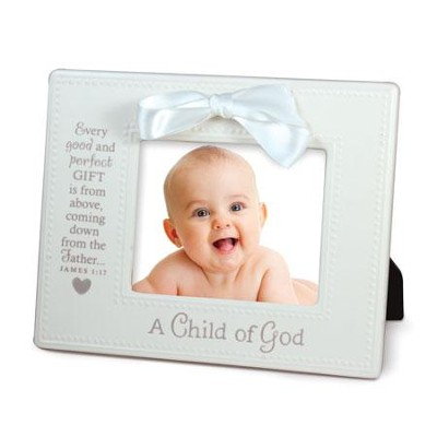A Child of God Photo Frame, White  -