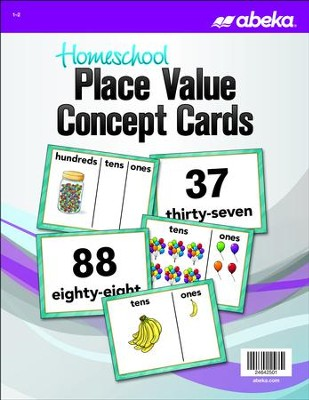 Abeka Homeschool Place Value Concept Cards Grades 1-2 (New Edition)  -