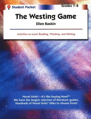 The Westing Game, Novel Units Student Packet, Grades 7-8   -     By: Ellen Raskin