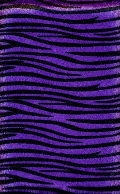 NIV Plush Bible, Thinline, Purple Zebra  -