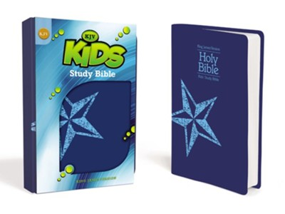 KJV Kids Study Bible, Leather-Look, Galaxy Blue  -