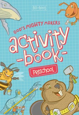 God's Mighty Makers Preschool Activity Book   -