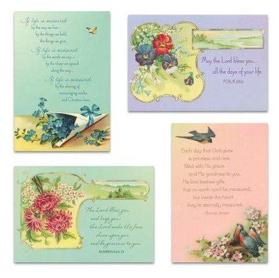 Victorian Blessings Birthday Cards, Box of 12   -