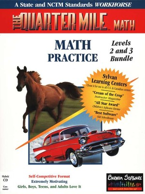 The Quarter Mile Math: Grades 4-9 Bundle Single CD-ROM   -