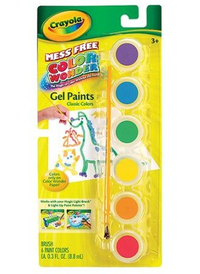 Color Wonder Gel Paints, Classic Colors  -