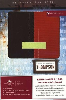 Biblia de Ref. Thompson RVR 1960, Duo Tone Marr&#243n-Terracota  (Thompson Chain Reference Bible, Duotone  -