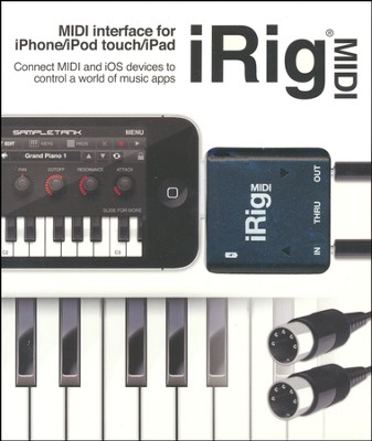 iRig Midi-iOS Midi Interface to Connect Midi Keyboard or Any Other Device to Your iPone/iPad Touch/iPad  -