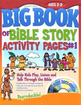 Big Book of Bible Story Activity Pages #1 with CD-ROM--Ages 2 to 5  -