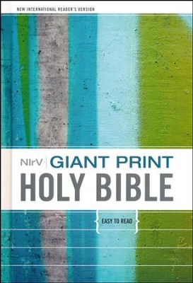 NIrV Giant-Print Holy Bible, hardcover  -